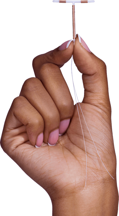 Paragard IUD shown in the hand